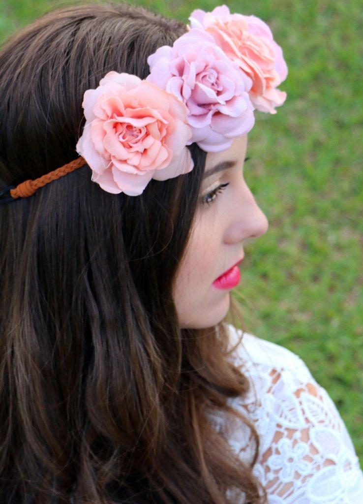 Estilo: como usar coroa de flores