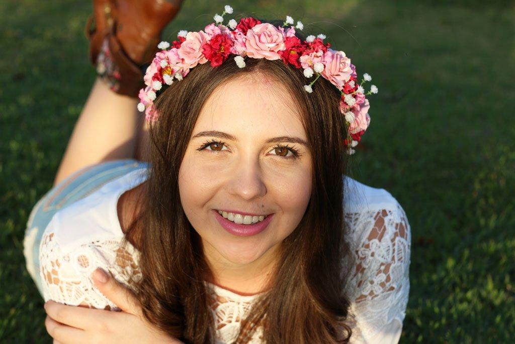 Coroa de flores linda da Danielle Signori
