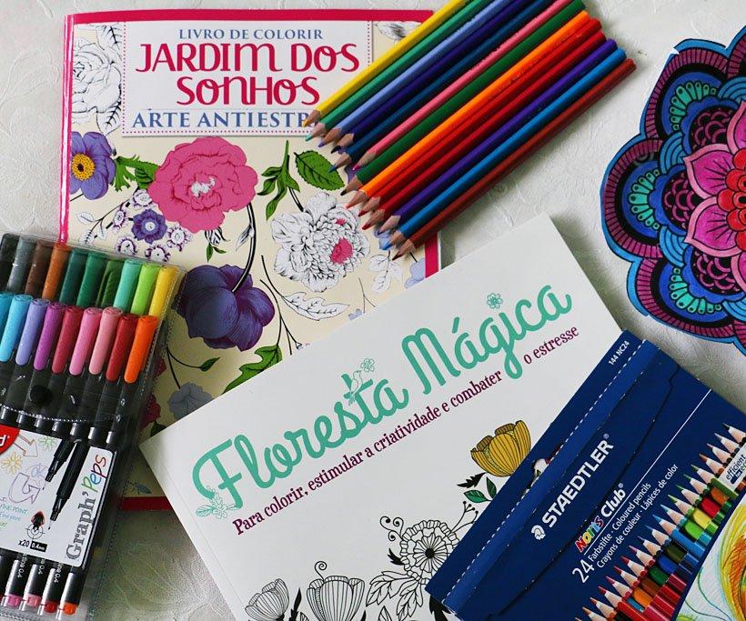 Livros de colorir para adultos: Jardim dos Sonhos, Floresta Mágica