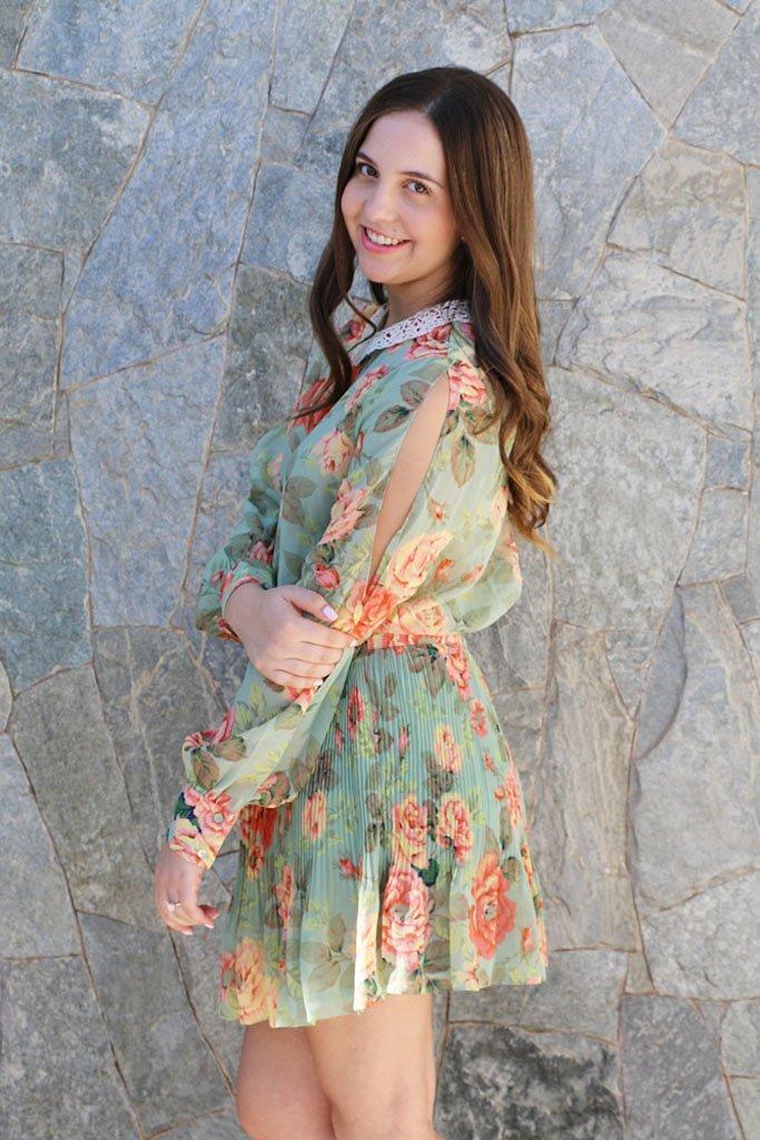 Look do dia para o Dia dos Namorados: vestido floral da Farm