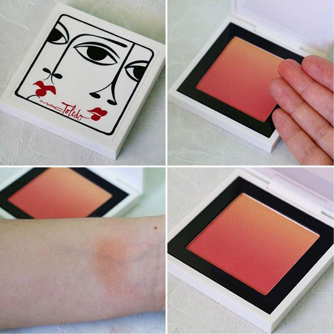 Swatch do blush ombre Ripe Peach da coleção Toledo para MAC