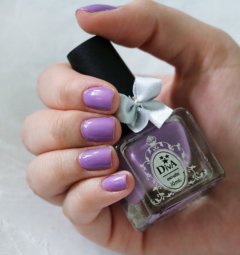 Unha da semana - esmalte lilás Sharon da linha Premium da Diva Cosmetics