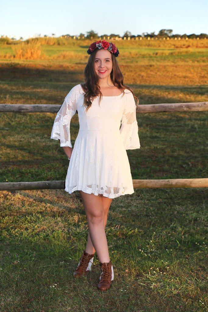 Vestido branco da loja Limone Modas