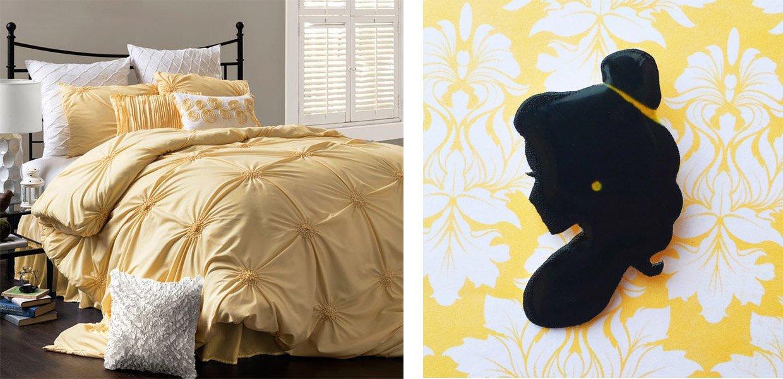 6-decoração-de-quarto-jogo-de-cama-Bela-e-Fera